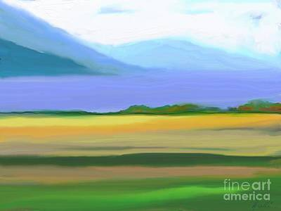 Laurentians Painting - Immensity by Aline Halle-Gilbert