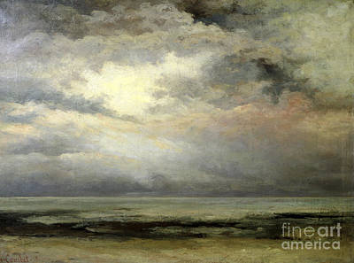 Storm Clouds Painting - Immensity by Gustave Courbet