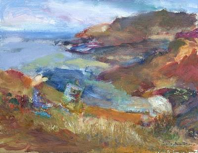Immersed In The Landscape Painters At Rocky Creek, Quin Sweetman Original by Quin Sweetman