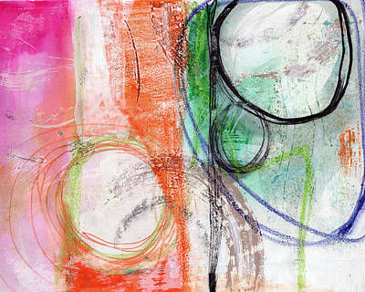 Modern Abstract Mixed Media - Immersed by Linda Woods