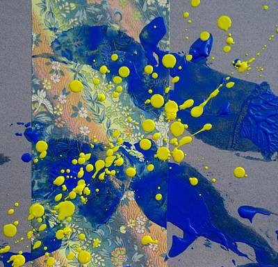 Encaustic Painting - Immersed by Louise Adams