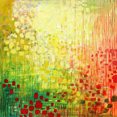 Greens Painting - Immersed No 2 by Jennifer Lommers