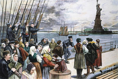 Immigrants On Ship, 1887 Print by Granger