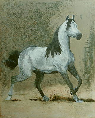 Encaustic Horse Painting - Imminent by Richard Young