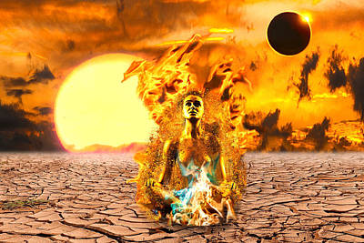 Digital Art - Immolation by Lisa Yount