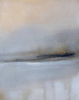 Abstract Seascape Drawing - Immortal Passage by Elwira Pioro