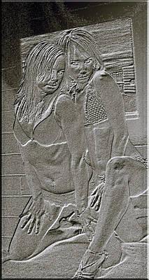 Digital Art - Immortalized In Stone by Elisabeth Dubois