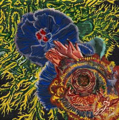 Painting - Immunity Activation Microbiology Landscapes Series by Emily McLaughlin