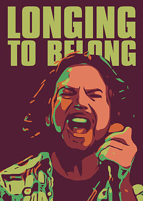Pearl Jam Digital Art - Eddie Vedder by Greatom London
