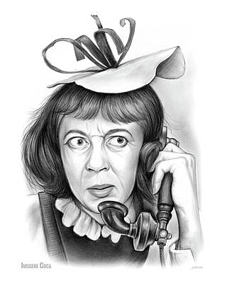 Drawings Royalty Free Images - Imogene Coca Royalty-Free Image by Greg Joens