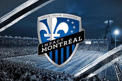 Montreal Canadiens Digital Art - Impact De Montreal Imfc by Nicholas Legault