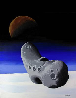 Deep Space Art Painting - Impact Imminent by Kurt Kaf