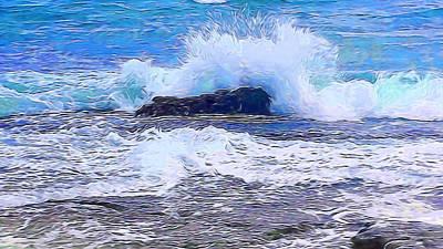 Ocean Impact In Abstract 1 Art Print