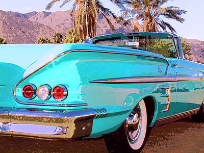 Chrome Bumper Photograph - Impala Convertible by William Dey