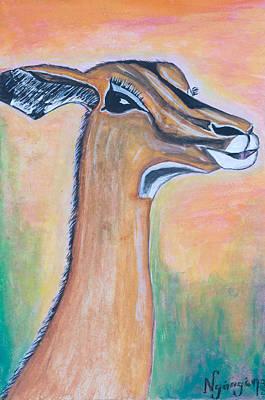 Kenyan Painting - Impala by Ken Nganga