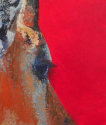 Impala On Crimson Close-up Art Print by Karen Macek