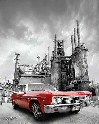 Mixed Media - Impala Super Sport Front by Lori Deiter