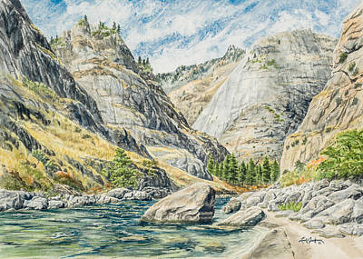 Salmon River Idaho Painting - Impassable Canyon by Link Jackson