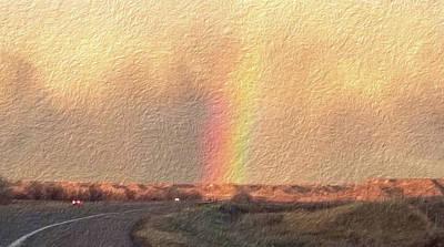 Digital Art - Impasto Rainbow To Home by Aliceann Carlton