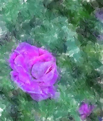 Digital Art - Impasto Rose by Aliceann Carlton