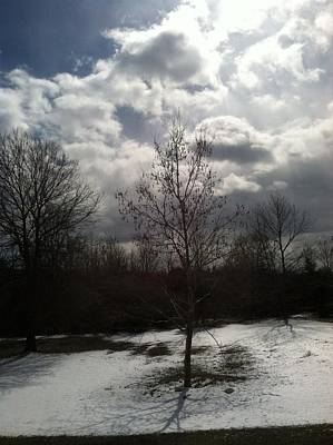 Photograph - Impending Winter Storm Clouds by Margie Avellino