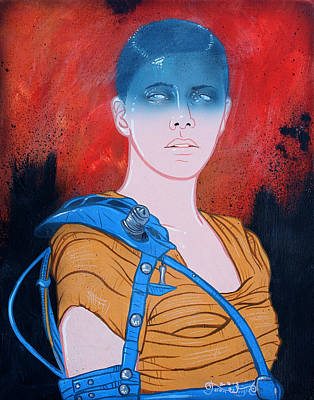 Apocalyptic Painting - Imperator Furiosa Original Available  by Jason  Wright