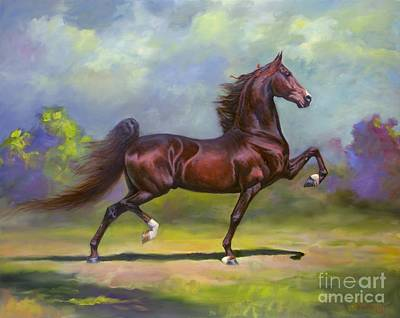 Equestrian Painting - Imperator by Jeanne Newton Schoborg