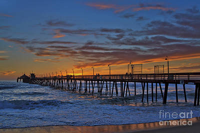 Photograph - Imperial Beach Pier Under A Spectacular Sunset by Sam Antonio Photography