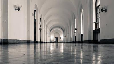 Ceiling Photograph - Imperial Castle Poznan Corridor by Jacek Wojnarowski