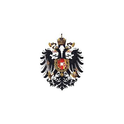 Digital Art - Imperial Coat Of Arms Of The Empire Of Austria-hungary 1815 Transparent by Helga Novelli