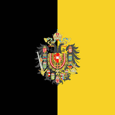 Digital Art - Habsburg Flag With Imperial Coat Of Arms 2 by Helga Novelli