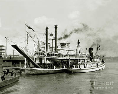Canal Street Photograph - Imperial Steamboat New Orleans by Jon Neidert