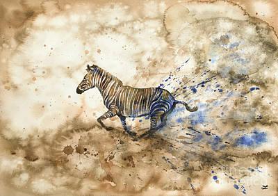 Painting - Imperial Zebra by Zaira Dzhaubaeva