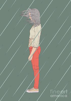 Girl Profile Digital Art - Imperturbable by Freshinkstain