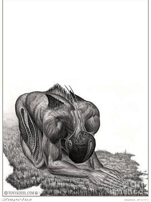 Drawing - Impetus Graphite by Tony Koehl