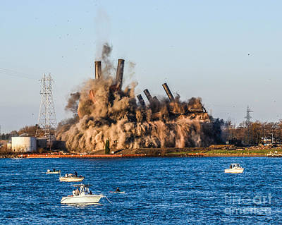 Photograph - Implosion Of Power Plant by Grace Grogan