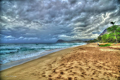 Photograph - Imposing Skies Oahu Beaches Hawaii Collection Art by Reid Callaway