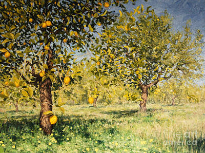 Painting - Impossibility Of A Lemon Tree by Angus Hampel