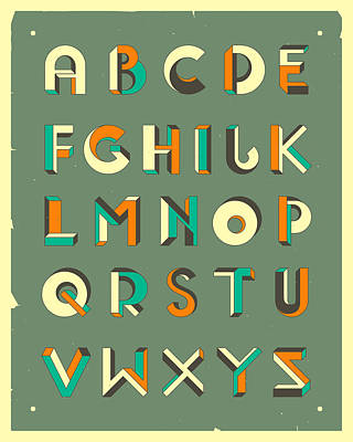 Digital Art - Impossible Alphabet 2 by Jazzberry Blue