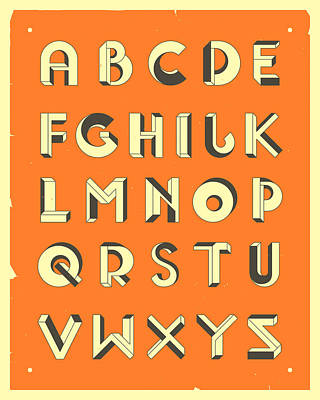 Digital Art - Impossible Alphabet 1 by Jazzberry Blue