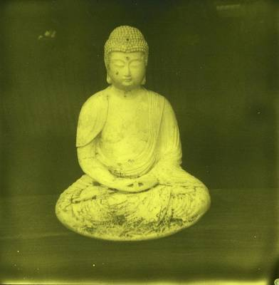 Impossible Project Third Man Records Jack White Buddha Yellow Black Art Print