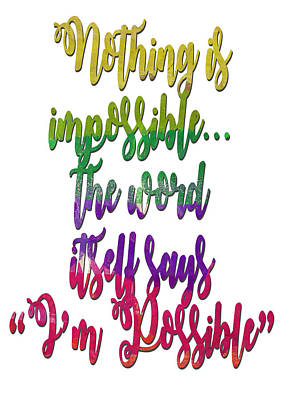 Actors Photos - Impossible Quote by Ricky Barnard