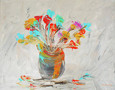 Painting - Impressionistic Flowers 2 by Ken Figurski