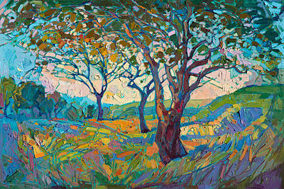 Dramatic Colors Painting - Impression by Erin Hanson