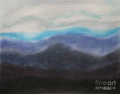 Pastel - Impression Mountains by Terry  Hester