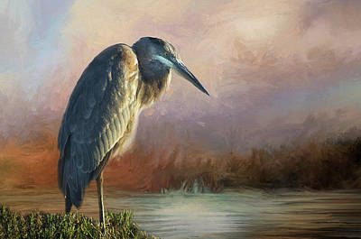 Photograph - Impression Of A Blue Heron by Morgan Wright