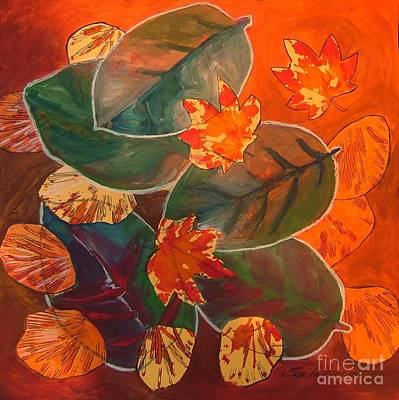 Painting - Impression Of Fall Leaves by Terri Thompson