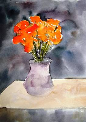 Impression Of Flowers Art Print by Larry Hamilton