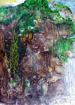 Painting - Impression Of Santa Emelia Waterfall by Sarah Hornsby