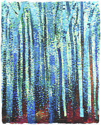 Painting - Impression Of Trees by Geoff Greene